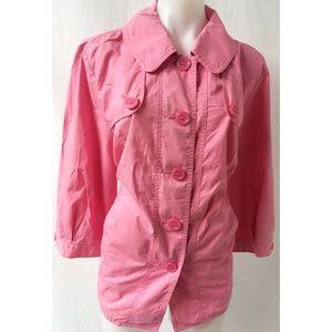 Jackets & Blazers - Pink Jacket Size 2X